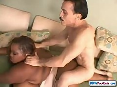 Skinny Grandpa with Nasty BBW Ebony
