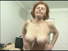 Busty Hairy Granny Loves Cock