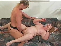 Horny Granny Gets Pounded In Trio Sex