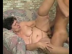 Lustful granny takes tasty cock