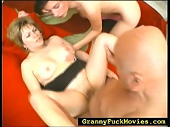 Teen girl joins a mature couple