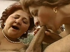 Two Grandmas Fuck 30'something Hot Hunk.