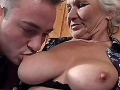 White haired old granny never gone tired of having sex