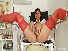 Petite Mature Nurse Exposes Her Nasty Wet Snatch With A Speculum
