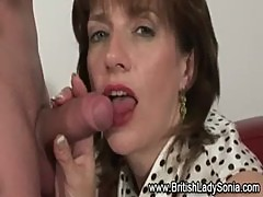 British mature lady cocksucking