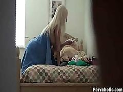 Hidden Cam Catches Blonde Hotty Naked