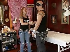 Lusty blonde wife gets banged by nasty tattooed bull