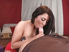 Nasty brunette slut wife gets brutally fucked