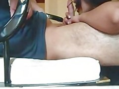 Horny pakistani girlfriend sucking guys dick making him cum