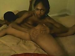 Ebony sex with a ladyboy