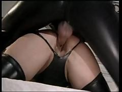 Blonde Babe In Latex Meets Master In Latex And Gets Fucked Hard