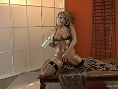 Blonde Harmony Rose Gets Anally Pleased As Shes Oiled Up