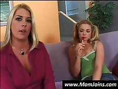 Blonde Mom And Teen Show Off Some Of Their Assets In This Interview