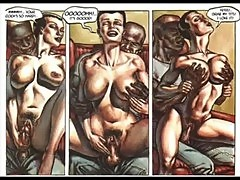 Hardcore sexual orgy comic