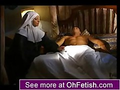 Naked nun anal in the bum