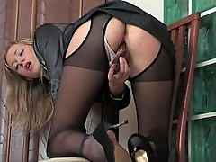 Jess teasing with her nylons