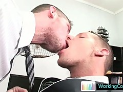 Shane kissing his office colleague