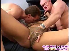 Exotic girl boned by old and young guy3