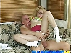 Horny cock lover Jamie Lynn rides her pink pussy on a stiff ...