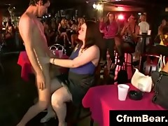 CFNM stripper sucked off by wild CFNM chicks