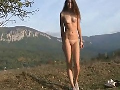 Russian girl outdoor shooting