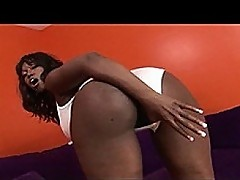Saggy Boob Ebony Stunner Doggy Slammed