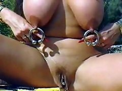 Beautiful piercing nipple and pussy rings