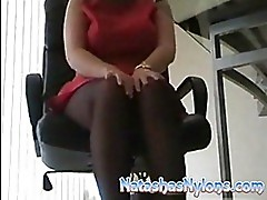 Horny British Business Woman In B...