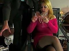 Hot euro busty blonde milf bangs boss