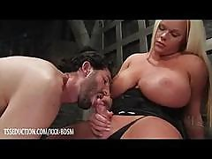 Man With A Beard Gives Blowjob To Fat Tranny