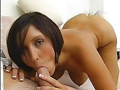 Short haired bitch Dylan Ryder taking a stiff cock in her mo...