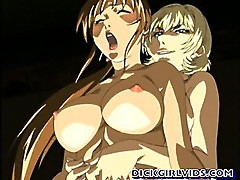 Anime girl with a huge penis fucked