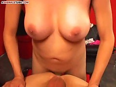 Bald lover for a busty tranny