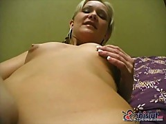 Small Breast Blonde Close-Up Masturbation