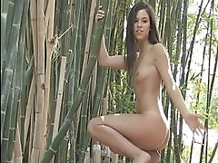 Brooke angelic brunette girl getting naked and posing and fl...