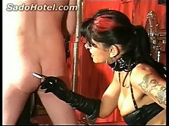 Mistress hits back and burns ass with a cigarette 124