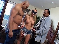 Black Cock Plugged Blonde Wife