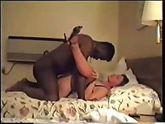 Horny Brunette Milf Gets Her Pussy Pounded By A Big Black Dick