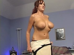 Hot redhead momma 1st time