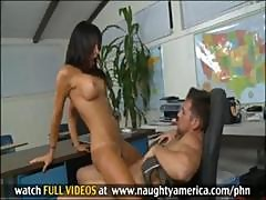 Lezley Zen Fucks Guy Senseless In Their Teacher Meeting