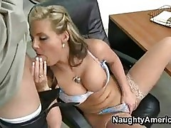 Sexy teacher Phoenix Marie takes a man sausage gliding in an...