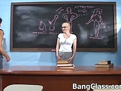 Teacher in a threesome with 2 hot sluts