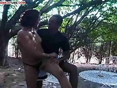 Outdoor sex with ladyboy