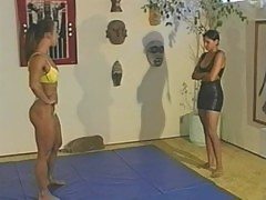 Topless Wrestling - Charlene Rink vs. Sabrina part 1