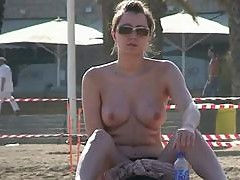 Great tits at a topless beach