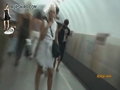 Russian Girls in Moscow UPSKIRT part2