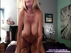 Blonde amateur MILF sucks and fucks