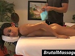 Amia Miley gets perfect body massaged