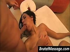 Brunette Amia Miley Gets Her Mouth And Pussy Worked By Hard Cock