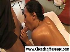 Brunette Amia Miley Gets Massage Nicely And Blows The Masseuse